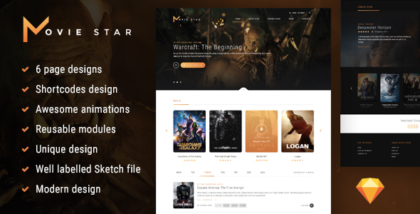 Download Movie Star - Cinema HTML template Youtube Html Templates