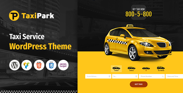 Download TaxiPark - Taxi Cab Service Company WordPress Theme Company WordPress Themes