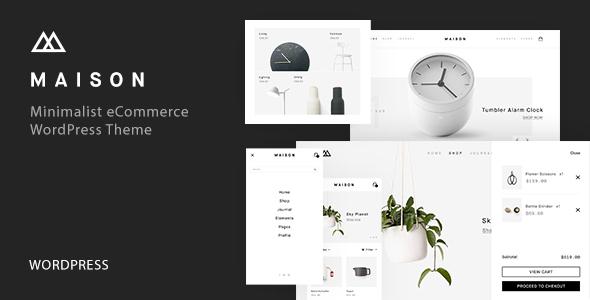 Download Maison - Minimalist eCommerce WordPress Theme Minimalist WordPress Themes