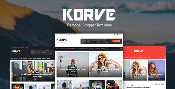 Download Korve - Personal Blogger Template Elegant Blogger Templates