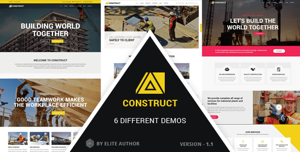 Download Construct - Construction, Building Multipurpose Company Theme Job Joomla Templates