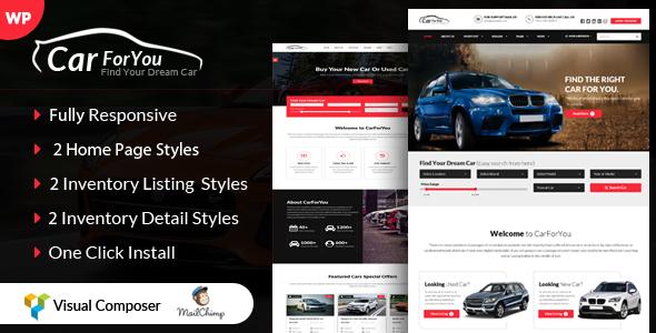 Download CarForYou - Responsive Car Dealer WordPress Theme Car WordPress Themes