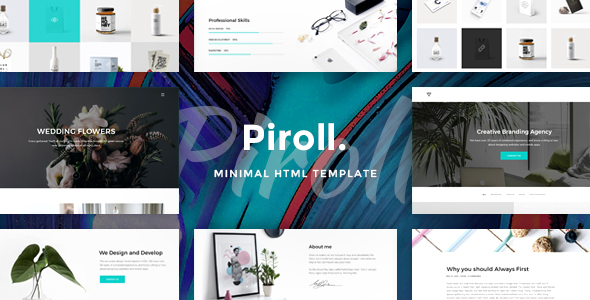 Download Piroll — Minimal and Modern Portfolio HTML Template Simple Html Templates