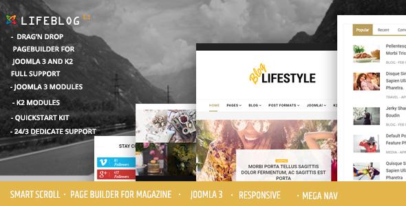 Download Lifeblog - Joomla Lifestyle Blogging and Magazine Property Joomla Templates