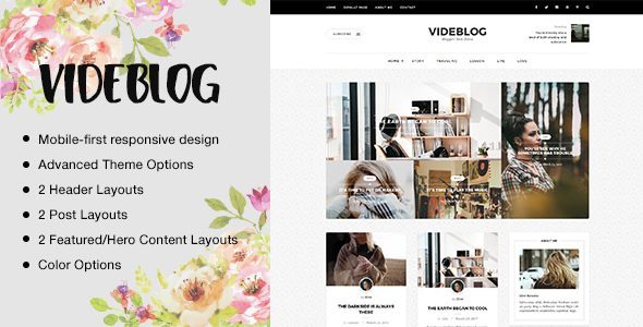 Download Videblog: A Responsive WordPress Blog Theme Music Blogger Templates