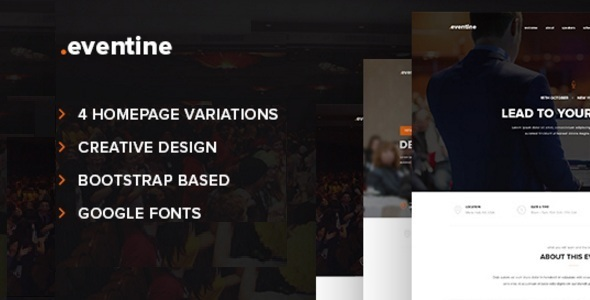 Download Eventine - Conference & Event HTML/CSS Template Cute Html Templates