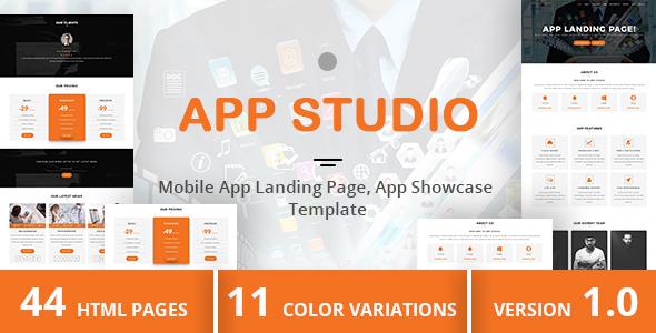 Download App Studio - Mobile App Landing Page, App Showcase Template Pink Html Templates