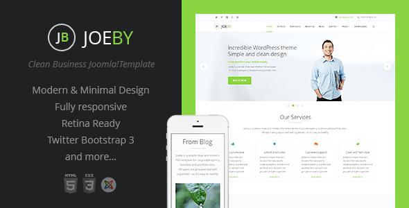 Download Joeby | Onepage Clean Business Joomla Template Clean Joomla Templates