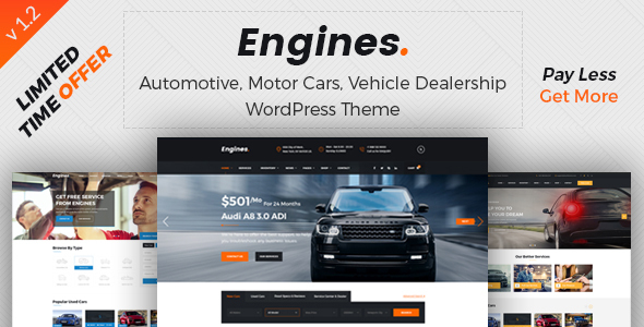 Download Engines ­- Automotive, Car Dealer, Vehicle, Dealership, Classifieds WordPress Theme Automotive WordPress Themes