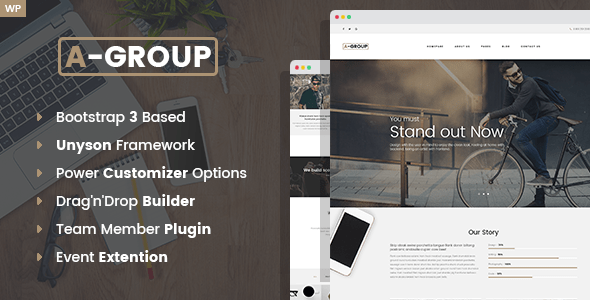 Download A-Group -  Business Company WordPress theme Company WordPress Themes