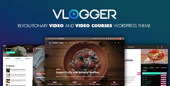 Download Vlogger: Professional Video & Tutorials WordPress Theme Youtube WordPress Themes