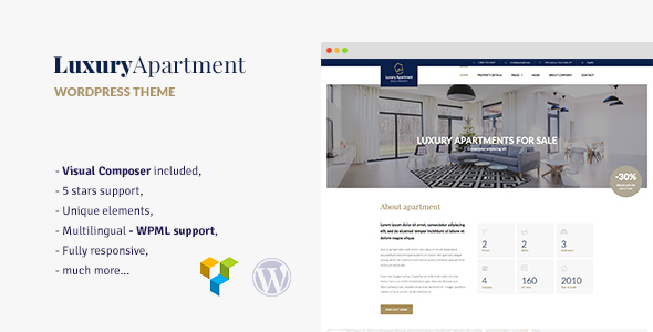 Download Luxury Apartment - Single property WordPress theme Property WordPress Themes