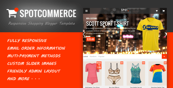 Download SpotCommerce - Blogger Shopping Template Bank Blogger Templates