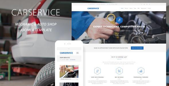 Download Car Service   Mechanic Auto Joomla Template Car Joomla Templates