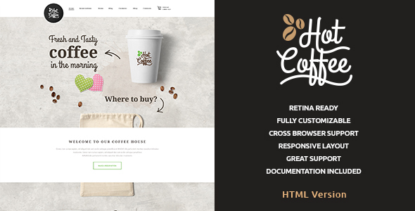 Download Hot Coffee | Cafe & Restaurant HTML Template Restaurant Html Templates