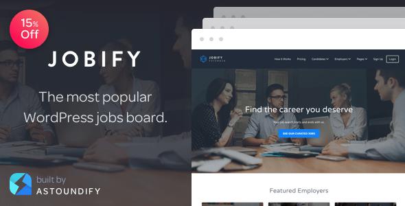 Download Jobify - The Most Popular WordPress Job Board Theme Job WordPress Themes
