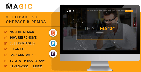 Download Magic -  Multipurpose Onepage Template Onepage Blogger Templates
