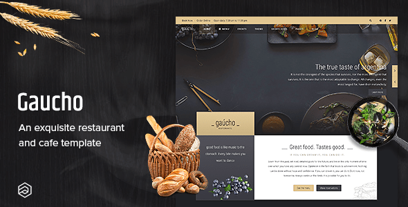 Download Restaurant Joomla Template And Cafe Menu - Gaucho Restaurant Blog Joomla Templates
