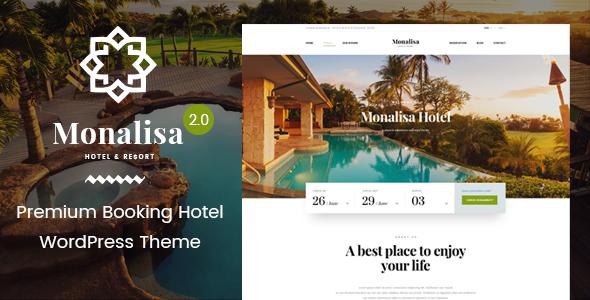 Download Hotel WordPress Theme   Monalisa Hotel Hotel WordPress Themes