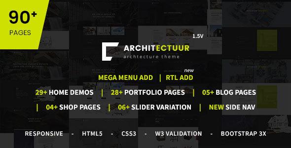 Download Architectuur - Interior Design, Decor, Architecture Business HTML Template Interior Html Templates