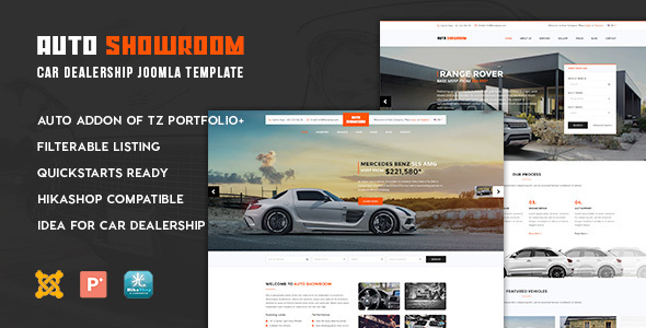 Download Auto Showroom - Car Dealership Joomla Template Car Joomla Templates