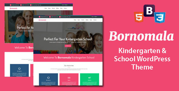 Download Bornomala - Kindergarten & School WordPress Theme Amp WordPress Themes