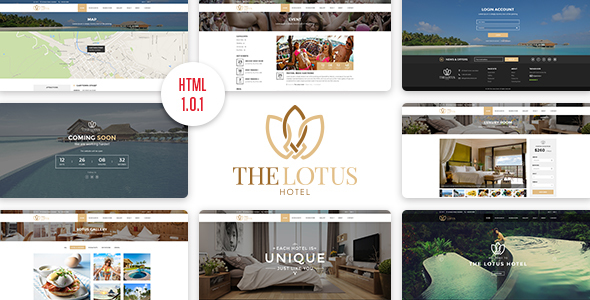 Download Lotus - Hotel Booking HTML Template Hotel Html Templates