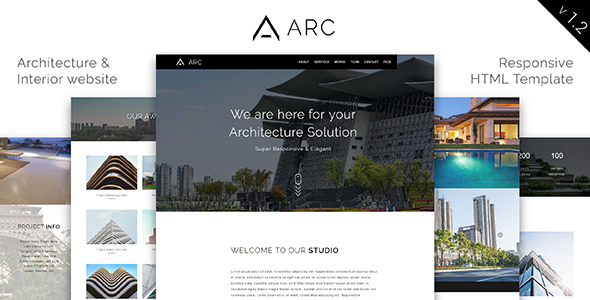 Download ARC_Architecture / Interior / Construction HTML Template Interior Html Templates