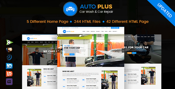 Download Auto Plus – Car Wash and Car Repair HTML Template Car Html Templates