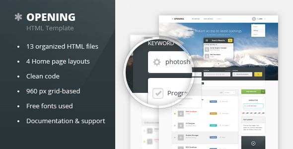 Download Opening - Job Board HTML Template Job Html Templates
