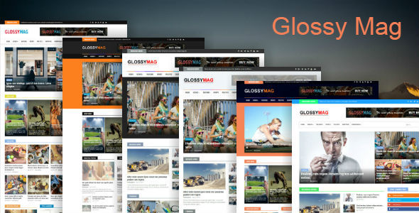Download Glossy Mag - News & Magazine Blogger Theme Video Blogger Templates