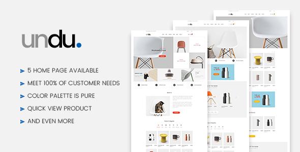 Download Undu - Furniture WooCommerce WordPress Theme Furniture WordPress Themes
