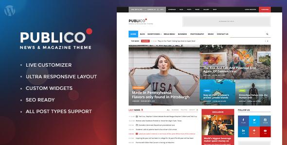 Download Publico - Modern Magazine WordPress Theme Modern WordPress Themes