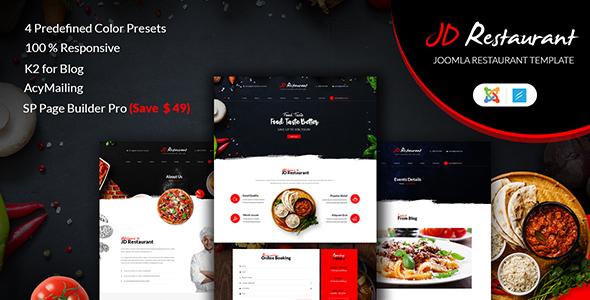Download JD Restaurant - Responsive Joomla Restaurant Template Restaurant Joomla Templates