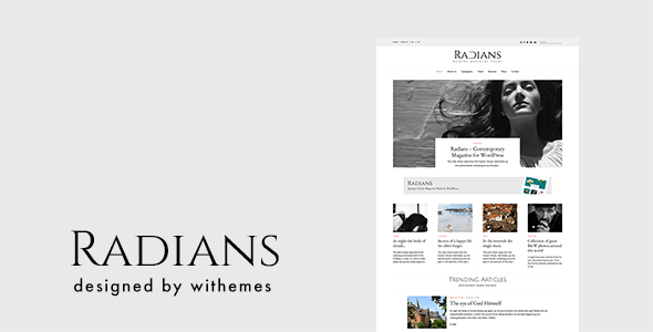 Download Radians | Modern Magazine Theme Fashion Blogger Templates