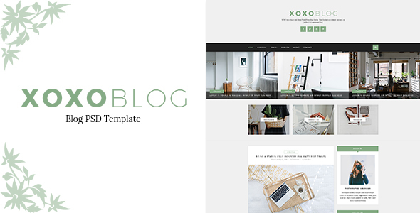 Download XOXO - Blog PSD Template Music Blogger Templates