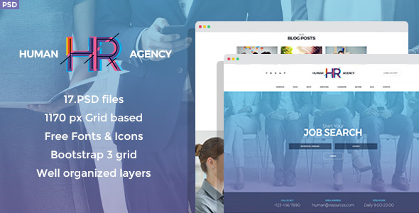 Download Human Agency - Human Resources PSD Template Directory Joomla Templates