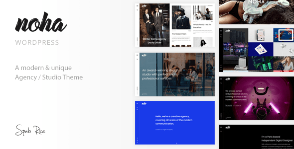 Download Noha - A modern Agency WordPress Theme for Creatives Youtube Html Templates