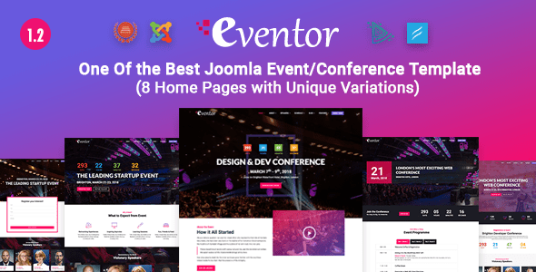 Download Eventor - Conference & Event Joomla Template Event Joomla Templates