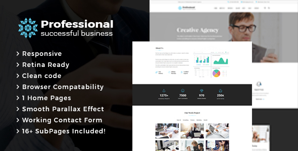 Download Professional -  Creative Agency & Business HTML Template Business Html Templates