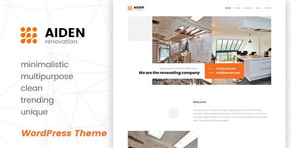Download Aiden - Minimalistic Multipurpose WordPress Theme Minimalist WordPress Themes