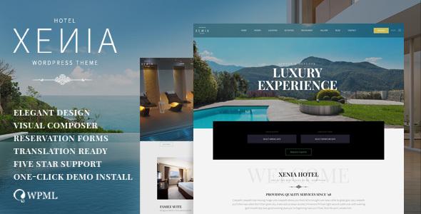 Download HOTEL XENIA - Hotel WordPress theme Hotel WordPress Themes