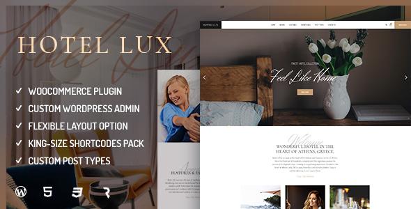 Download Hotel Lux - Resort & Hotel WordPress Theme Hotel WordPress Themes