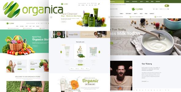 Download Organica - Organic, Beauty, Natural Cosmetics, Food, Farn and Eco WordPress Theme Green WordPress Themes