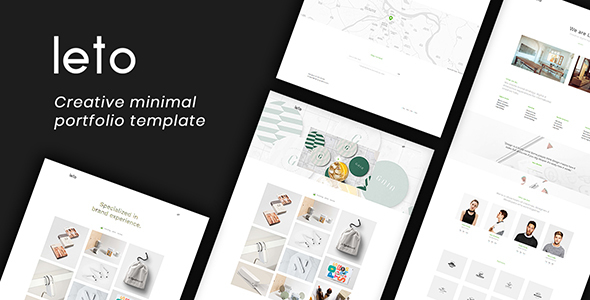 Download Leto - Creative Minimal Portfolio Template Store Blogger Templates