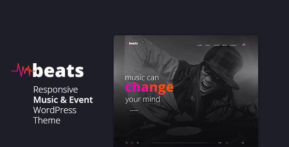 Download Beats - Responsive Music & Event WordPress Theme Event WordPress Themes