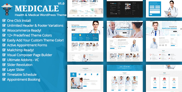 Download Medicale - Health & Medical Responsive WordPress Theme Hospital WordPress Themes