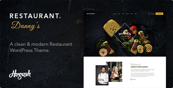 Download Dannys Restaurant | Restaurant and Cafe WordPress Theme Restaurant Wordrpess Themes