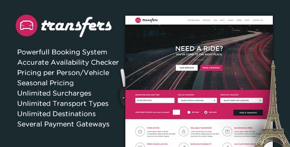 Download Transfers - Transport and Car Hire WordPress Theme Car WordPress Themes