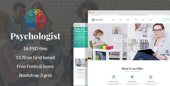 Download Psychologist - Therapy and Counseling PSD Template Car Joomla Templates